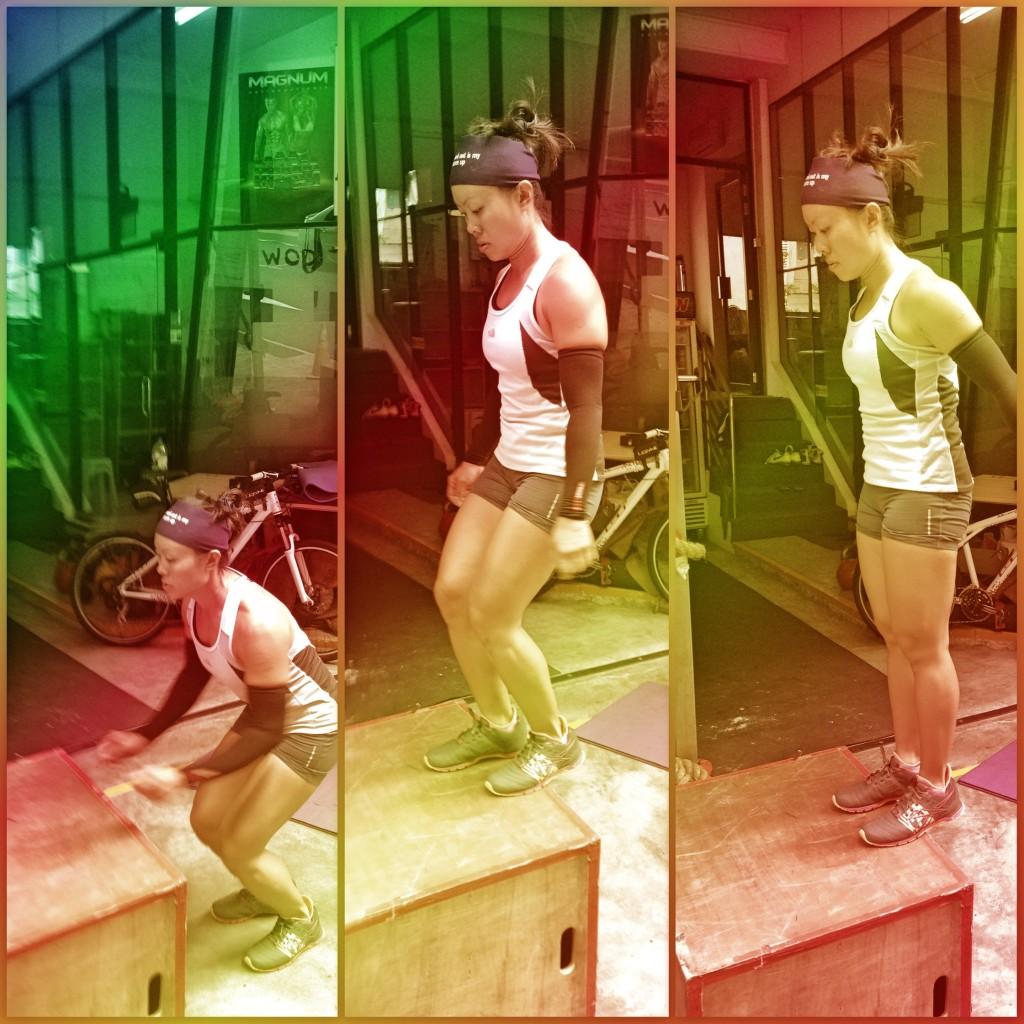 Woman Box Jump