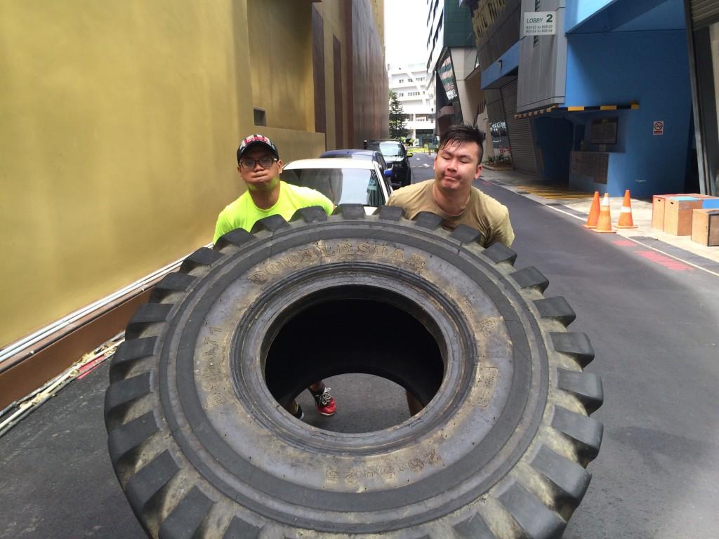 Tyre Flips EMOM 8